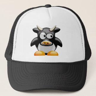 Pinguin-Kuh mit Hörnern Trucker Kappe