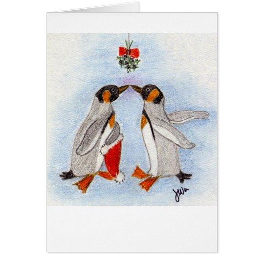 Pinguin-Kusskarte Grußkarte
