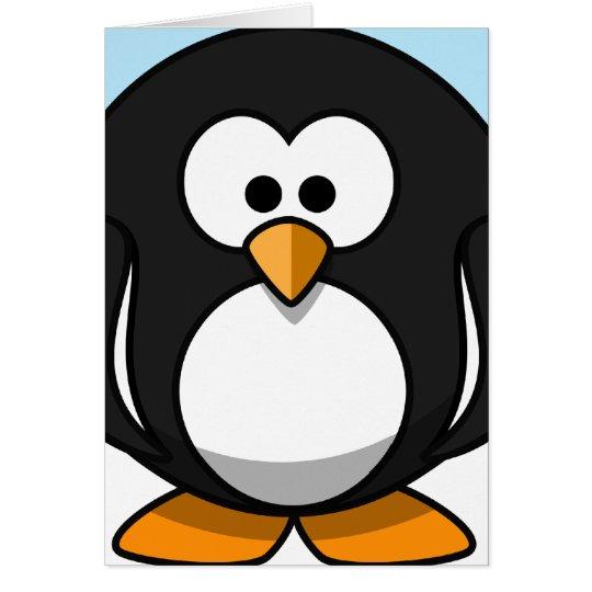Pinguin-Nahaufnahme Mitteilungskarte