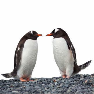 Pinguin-Paare Freistehende Fotoskulptur