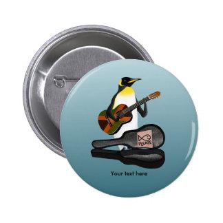 Pinguin-Reggae-Gitarre Runder Button 5,1 Cm