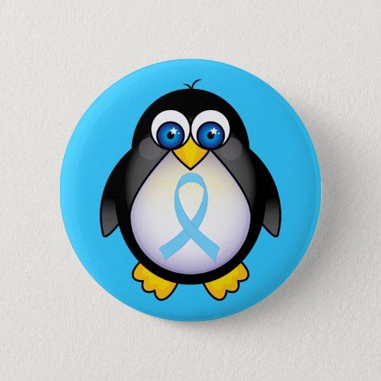 Pinguin-Türkis-Band-Geschenk Runder Button 5,1 Cm