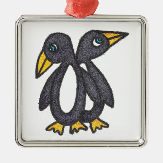 Pinguine Silbernes Ornament