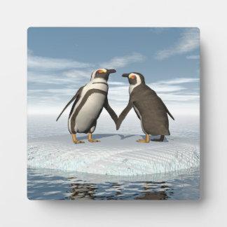 Pinguinpaare Fotoplatte