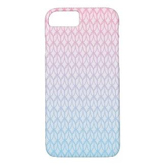 Pink-blaues Steigungs-Oval-Muster iPhone 8/7 Hülle