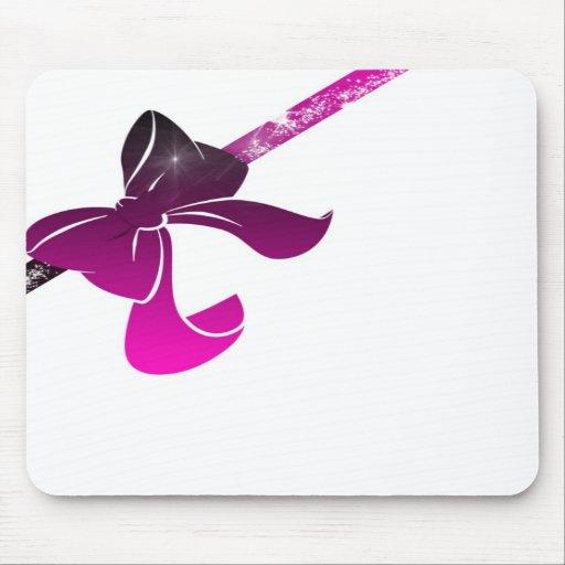 pink bow tapis de souris