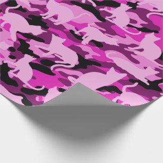 Pink Catmouflage Geschenkpapier