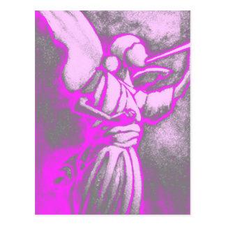 Pink-Engel Postkarte