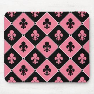 Pink Fleur de Lis Tapis De Souris