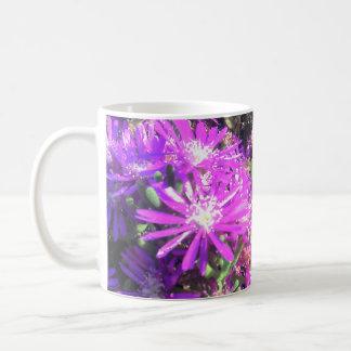 Pink Garden Flowers Mug Blanc