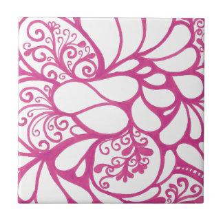 Pink-Gekritzel Kleine Quadratische Fliese