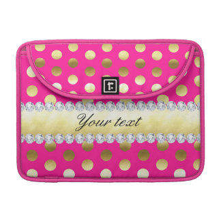 Pink-Goldfolien-Tupfen-Diamanten MacBook Pro Sleeve