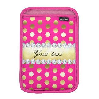 Pink-Goldfolien-Tupfen-Diamanten Sleeve Für iPad Mini