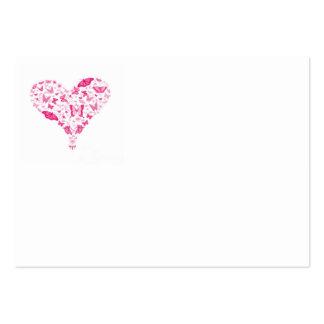 pink heart cartes de visite personnelles