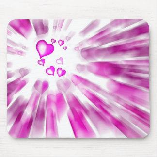 Pink Hearts Tapis De Souris
