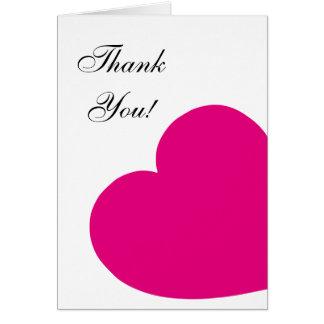 Pink-Herz danken Ihnen Mitteilungskarte
