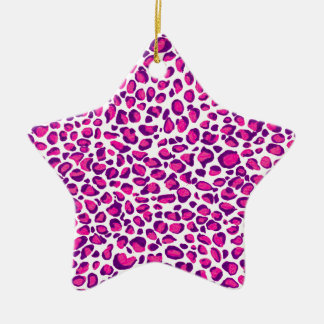 Pink Jaguar Keramik Ornament