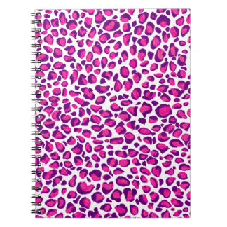 Pink Jaguar Spiral Notizblock