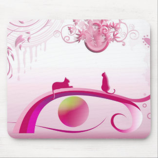 "«pink land "" tapis de souris"