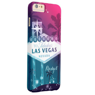 Pink Las Vegas Barely There iPhone 6 Plus Hülle