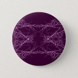 pink metall runder button 5,7 cm