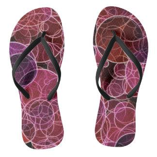 Pink_Purple_Red Muster-Erwachsener, dünne Bügel Badesandalen