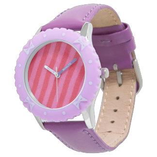 Pink-Streifen Uhr