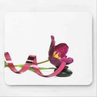 pink tulip tapis de souris