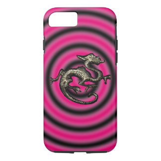 Pink-u. Schwarz-Drache iPhone Fall, Halter iPhone 8/7 Hülle