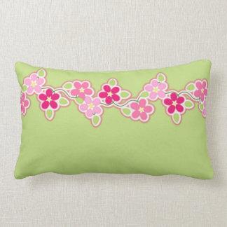 Pink-und Frühlings-Grün mit Schnur der Lendenkissen