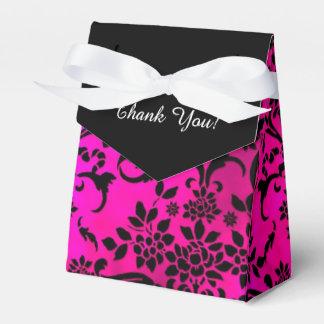 Pink-und Schwarz-Damast danken Ihnen, Kasten zu Geschenkschachteln