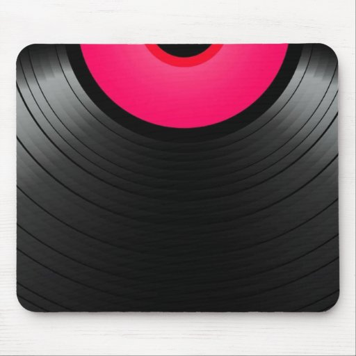 Pink vinyl tapis de souris