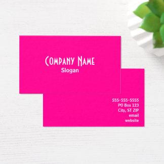 Pink Visitenkarte