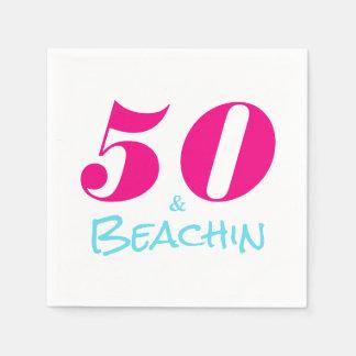 PinkAquamarine 50 u. Beachin Serviette