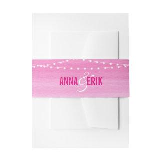 Pinkfarbene Aquarell-Schnur-Lichter Einladungsbanderole