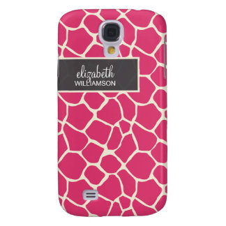 Pinkfarbene Giraffe Pern Galaxy S4 Hülle