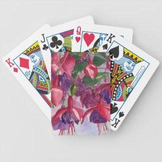 Pinkfarbene Raserei Bicycle Spielkarten