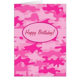 Pinkfarbene rosa Camouflage-Tarnungs-alles- Gute Karte