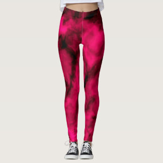 Pinkfarbene Wolken abstrakt Leggings