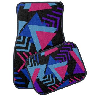 Pinkfarbenes blaues lila abstraktes Set von 4 Autofußmatte