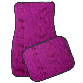 Pinkfarbenes Set von 4 Auto-Matten Automatte