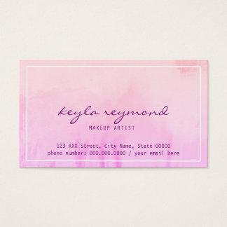 pinkish Aquarell des Make-upmakes-up Visitenkarte