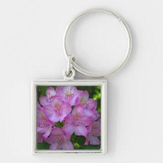 Pinkish lila Rhododendron Catawbiense Schlüsselanhänger