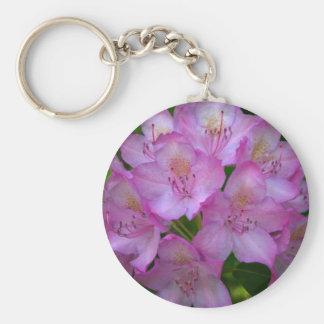 Pinkish lila Rhododendron Catawbiense Standard Runder Schlüsselanhänger