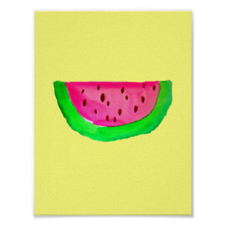 PinkWatermelon Pop-Kunstmalereiplakat Poster