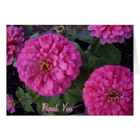 Pinkzinnia danken Ihnen Grußkarte