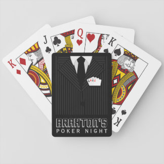 Pinstripe-Anzugs-Kasino-Poker-Nachtspielkarten Spielkarten