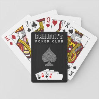 Pinstripe-Anzugs-Poker-Verein-Kasino-Spielkarten Spielkarten