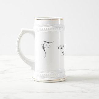 Pinstriped graue Damast Goth Hochzeit Tee Tasse