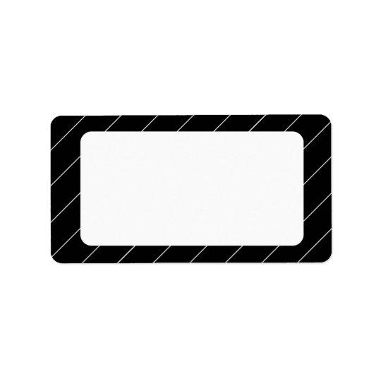 Pinstriped Schwarzweiss-Leeradresse-Aufkleber Adressaufkleber